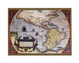 Map of North America I Art Print