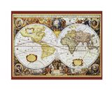Map of the World III Art Print