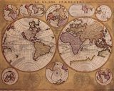 Map - Globe Terrestre Art Print