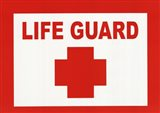 Sign - Life Guard Art Print