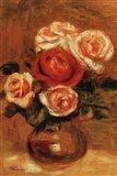 Roses In A Vase Art Print
