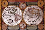 Map - Terre Universelle Art Print