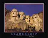 Leadership (Mt.Rushmore) Art Print