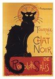 Tournee Du Chat Noir (Yellow Background) Art Print