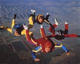 Extreme Sport Skydiving Art Print