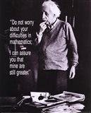 Einstein - Do Not Worry Art Print