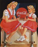 Coca-Cola Young Girls Art Print