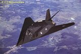 Airplane F-117 Nighthawk flying Art Print