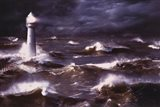 Lighthouse And Waves, South Africa Art Print