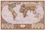 Map of the World (mollweide projection) Art Print