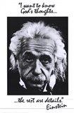 Einstein-God's Thoughts Art Print
