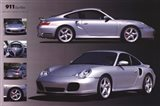 Porche 911 Turbo Silver Art Print
