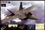Airplane Raptor F/A-22 Art Print