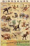Dinosaurs Timeline Art Print