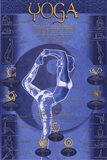 Yoga - Postures And Chakras Art Print