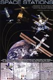 Space Stations Art Print