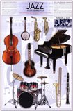 Jazz Instruments Art Print