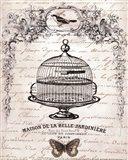 French Birdcage I - mini Art Print