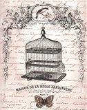 French Birdcage II Art Print