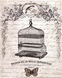 French Birdcage II - mini Art Print