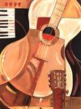 Abstract Guitar Art Print