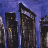 Blue Cityscape Art Print