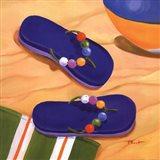 Purple Flip Flops Art Print