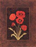 Damask Poppy - Petite Art Print