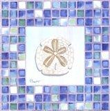 Mosaic Sanddollar - Mini Art Print