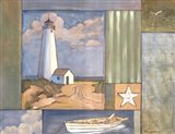 Lighthouse Collage I Art Print