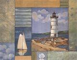 Lighthouse Collage II Art Print