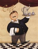 Waiter - Cafe Art Print