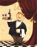 Waiter - Vin Art Print