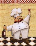 Le Chef Et Le Vin Art Print