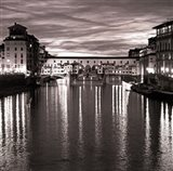 Golden Ponte Vecchio Art Print