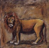 Safari Lion Art Print