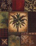 Palm Collage II Art Print