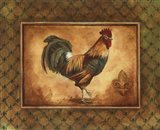Country Rooster I - mini Art Print