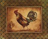 Country Rooster II - mini Art Print