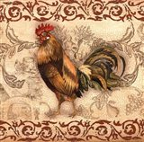 Toile Rooster I Art Print
