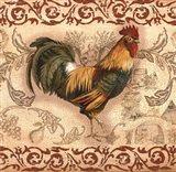 Toile Rooster II Art Print