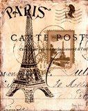 Paris Collage I Art Print