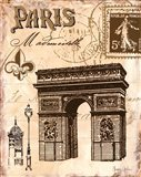 Paris Collage II Art Print