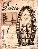 Paris Collage III Art Print