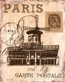 Paris Collage IV Art Print