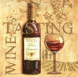 Wine Tasting Square Art Print