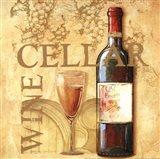 Wine Cellar Square Art Print