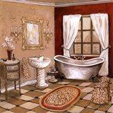 Leopard Florentine Bath Art Print