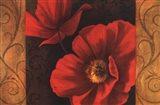 Pavots Rouges II Art Print