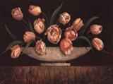 Elegant Tulips - mini Art Print